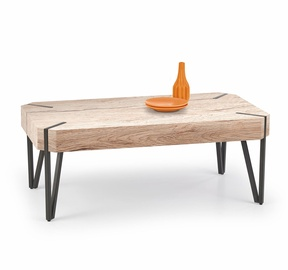 Kafijas galdiņš Halmar Emily San Remo Oak/Black, 1100x600x420 mm