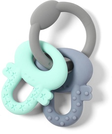 Zobu riņķis BabyOno Ortho Keys Gray