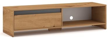 ТВ стол Vivaldi Meble Line, серый/дубовый, 1400x400x350 мм