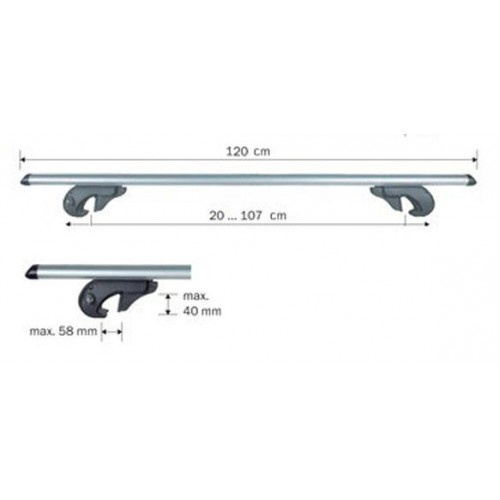 Menabo Brio Roof Bars 1200mm