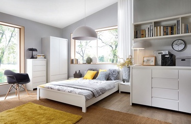 Guļamistabas mēbeļu komplekts Black Red White Kaspian White