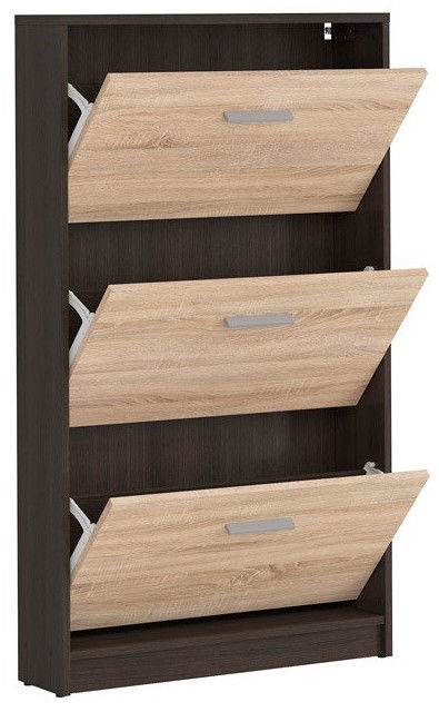 Apavu plaukts Black Red White Nepo Plus Wenge/Sonoma Oak, 700x175x1200 mm