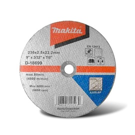 Makita D-18699 Cutting Disc 230x2.5mm