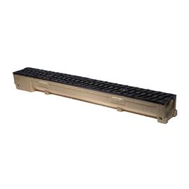Элемент лотока с решеткой ковкого чугуна 1 м h100
