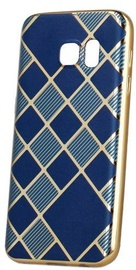 Mocco Geometric Plating Back Case For Apple iPhone 5/5s/SE Blue/Gold