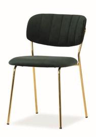 Ēdamistabas krēsls Signal Meble Carlo Velvet Green/Gold