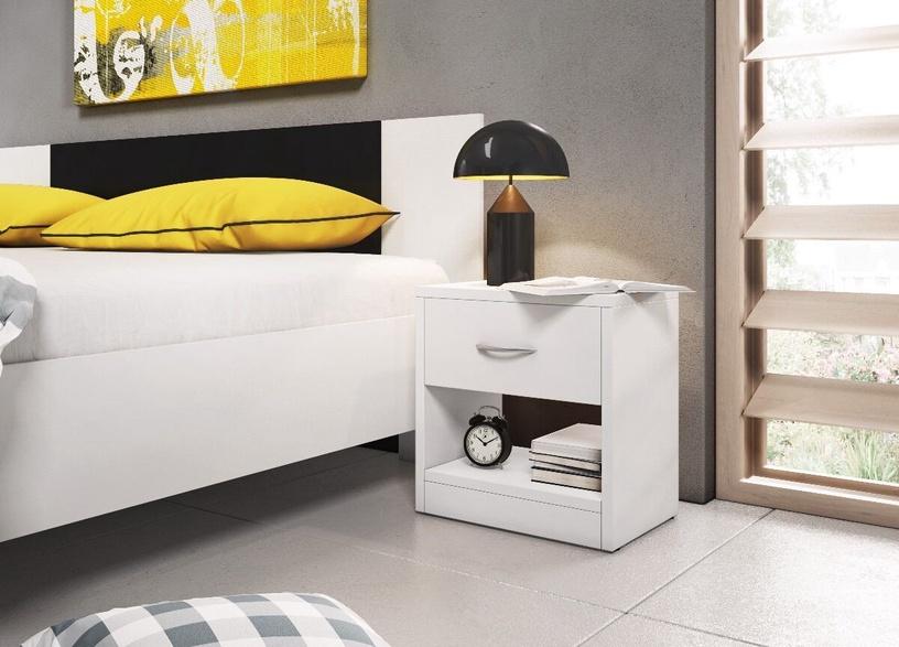 Ночной столик WIPMEB Naka 1S, белый, 39x28x41 см