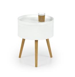 Kafijas galdiņš Halmar Supra White, 380x380x480 mm