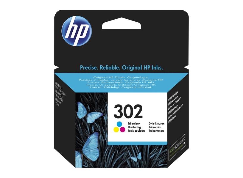 HP 302 Tri-Color C/M/Y