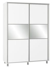 Skapis Bodzio SZP150 White, 150x60x210 cm, with mirror