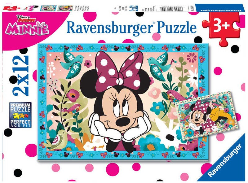 Пазл Ravensburger Minnie Mouse 7619, 2x12 шт.