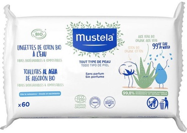 Mustela Organic Cotton Wipes 60pcs