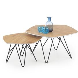 Kafijas galdiņš Halmar Zero Golden Oak/Black, 560 - 750x560x360 - 410 mm