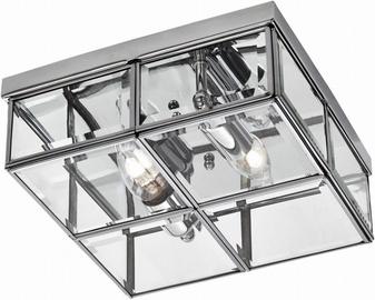 Light Prestige Monza Ceiling Lamp 2x40W E14 Chrome/Transparent