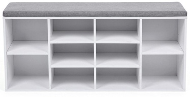 Apavu plaukts Songmics White/Grey, 1040x300x480 mm