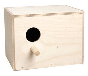 Flamingo Wooden Nest Box For Parakeets 100811 Beige