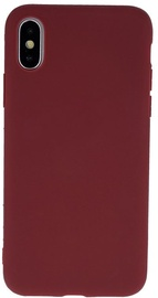 Mocco Ultra Slim Soft Matte Back Case For Apple iPhone XS Max Dark Red
