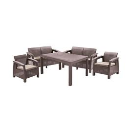 Комплект уличной мебели Curver Corfu Fiesta 26865, коричневый, 6 места