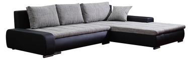 Stūra dīvāns Platan Tivano Black/Gray, 302 x 213 x 80 cm