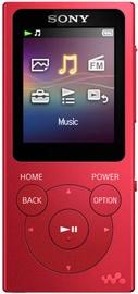 Mūzikas atskaņotājs Sony NW-E394, sarkana, 8 GB