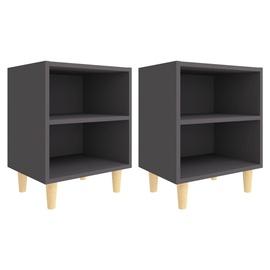 Ночной столик VLX, черный, 40x30x50 см