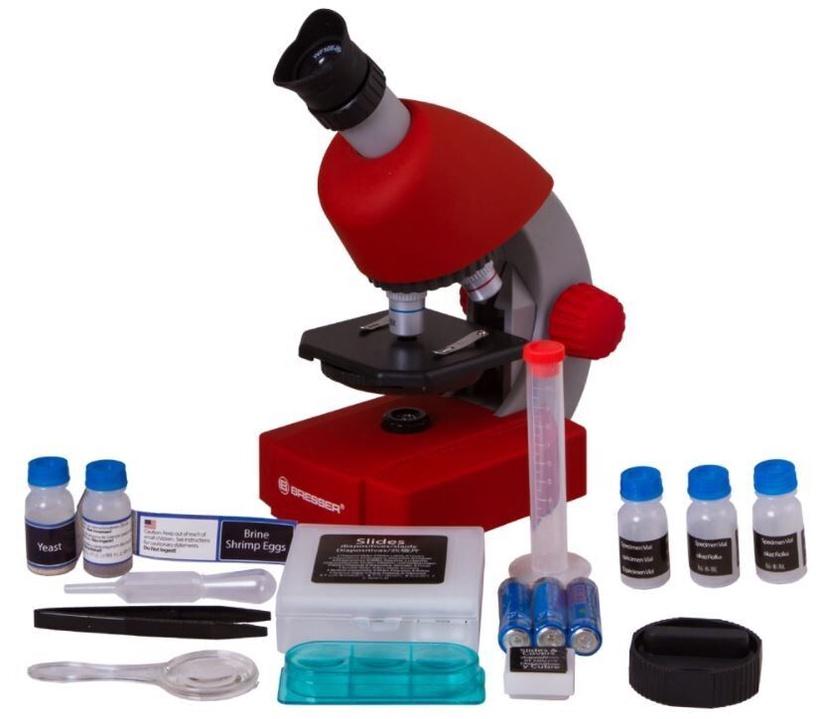 Intelektuāla rotaļlieta Levenhuk Bresser Microscope Red