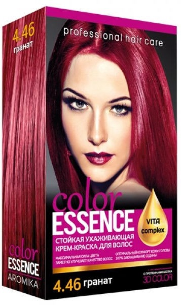 Aromat Cream Hair Dye Aromika Color Essence 4.46
