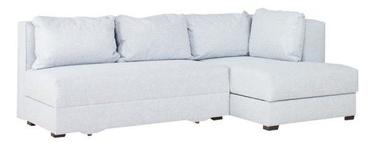 Stūra dīvāns Bodzio Judyta Noble Grey, labais, 225 x 155 x 77 cm