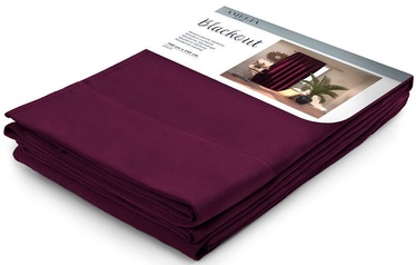 AmeliaHome Pleat Blackout Curtains Plum 140x245cm