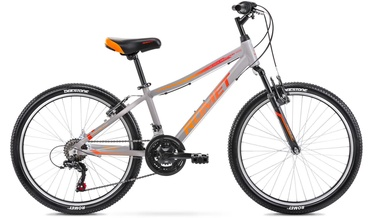 Bērnu velosipēds Romet Rambler 13'' 24'' Graphite/Red 21