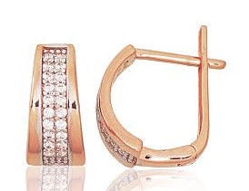 Diamond Sky 14K Red Gold Earrings Star Rain