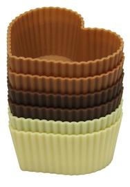 Форма для выпечки Maestro MR1057, коричневый/кремовый, 6 шт.
