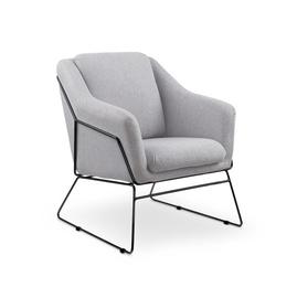Atzveltnes krēsls Halmar Soft 2 Light Grey, 76x69x81 cm