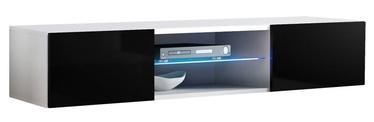 ТВ стол ASM RTV Fly 33, белый/черный, 1600x400x300 мм