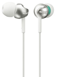 Austiņas Sony MDR-EX110AP/W White/Silver