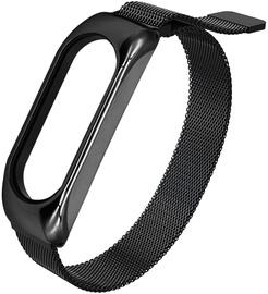 Siksna Hurtel Replacement metal band bracelet strap, melna