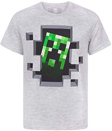 Jinx Minecraft Creeper Inside Men's Premium T-Shirt Grey L