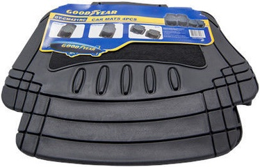 Gumijas automašīnas paklājs Goodyear GY-CM-421-RC PVC Black, 4 gab.
