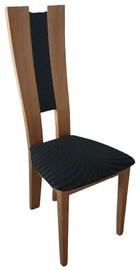 Стул для столовой MN Corino, коричневый/черный