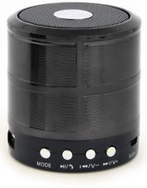Bezvadu skaļrunis Gembird SPK-BT-08-BK, melna, 3 W