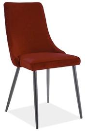 Ēdamistabas krēsls Signal Meble Piano B Velvet 59, bordo