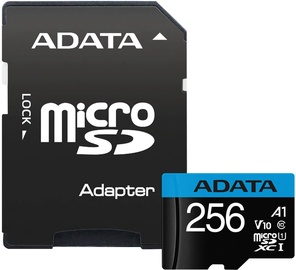 Atmiņas karte ADATA Premier 256GB Micro SDXC V10 + SD Adapter