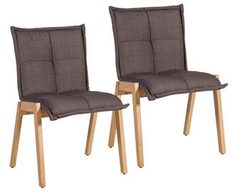 Ēdamistabas krēsls Home4you Razor Brown