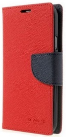 Mercury Fancy Diary Book Case For Samsung Galaxy A7 A700 Red/Navy