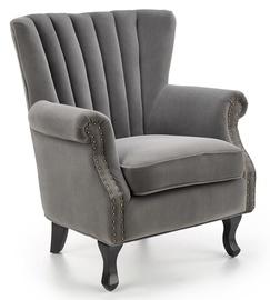 Atzveltnes krēsls Halmar Titan, melna/pelēka, 73 cm x 70 cm x 87 cm