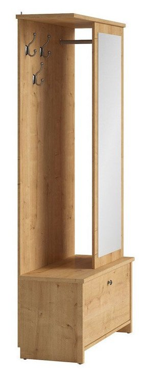 Black Red White Porto Hallway Unit w/ Mirror Burlington Oak