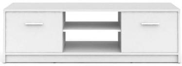 ТВ стол Black Red White Nepo Plus, белый, 1385x465x425 мм