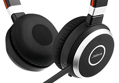 Беспроводные наушники Jabra Evolve 65 Duo MS, черный/oранжевый