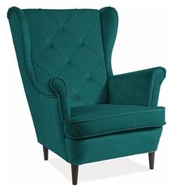 Кресло Signal Meble Scandinavian Lady Velvet, синий, 75x85x101 см