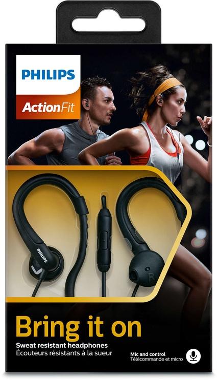 Austiņas Philips ActionFit Sports SHQ1255TBK Black